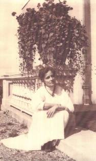 Isabel Lyon at Stormfield (Twain's last home, which she designed), 1908