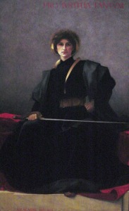 """L'Epee"" (The Sword) by Alfred-Pierre Agache, 1896: Portrait of Beatrice Evelyn Hall, author of The Friends of Voltaire."