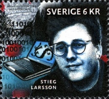 stieg larsson stamp