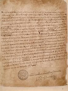One of King Henry's letters to Anne Boleyn(i.telegraph/co/uk)Library.jpg