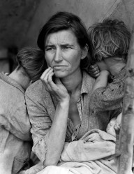Dorothea Lange's iconic photograph, taken for the Farm Security Administration, 1936, reminds me of Libby and shows that, for the working poor, times haven't changed that much. (Wikipedia)