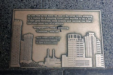 Sidewalk plaque, Library Walk, New York City