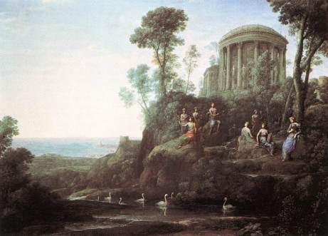 Claude_Lorrain 1680 Apollo and the Muses on Mount Helion