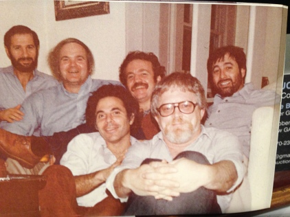 The Boys, from left to right: Cliff Graubart, Pat Conroy, Dan Sklar, Frank Smith, Terry Kay, Bernie Schein. (Thanks to Michael K. Brown, President, Atlanta Writers Club, for sharing this photo.)