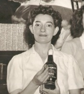 My grandmother at Leonard's Supper Club in Salem, which was owned by a couple of her brothers. It was on the vaudeville circuit, and my Baube remembered the Will Mastin Trio (Mastin, Sammy Davis Sr., and Sammy Davis, Jr.) performing there.