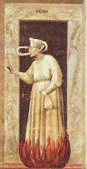 "Giotto, ""Envy"" (fresco, 1306)"