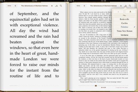 Largest and smallest font size on the iBook app. (Vision Australia)