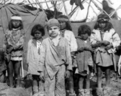 Santiago McKinn in Geronimo's camp; captured 1885, rescued 1886; cried when returned. Photo: Camillus Sidney Fly (Pinterest)
